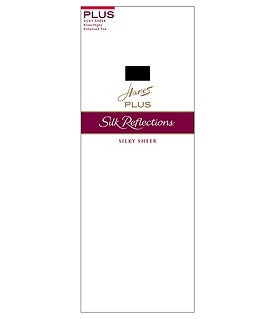 Hanes Silk Reflections Plus Enhanced-Toe Knee Highs 2-Pack Image