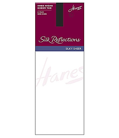 Hanes Silk Reflections Sandalfoot Knee Highs