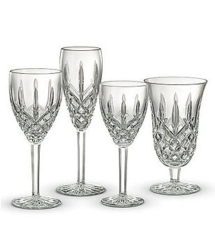 Waterford Araglin Diamond-Cut Crystal Tulip Stemware