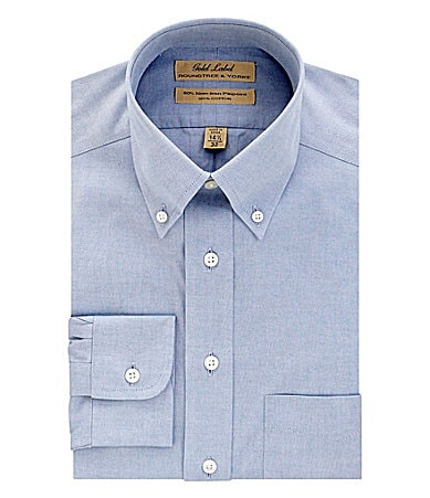 Roundtree & Yorke Gold Label Buttondown-Collar Dress Shirt