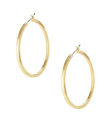 Kenneth Cole New York  Thin Round Hoop Earrings