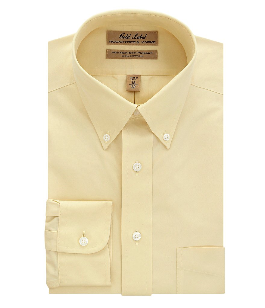 Roundtree & Yorke Gold Label Button-Down-Collar Dress Shirt