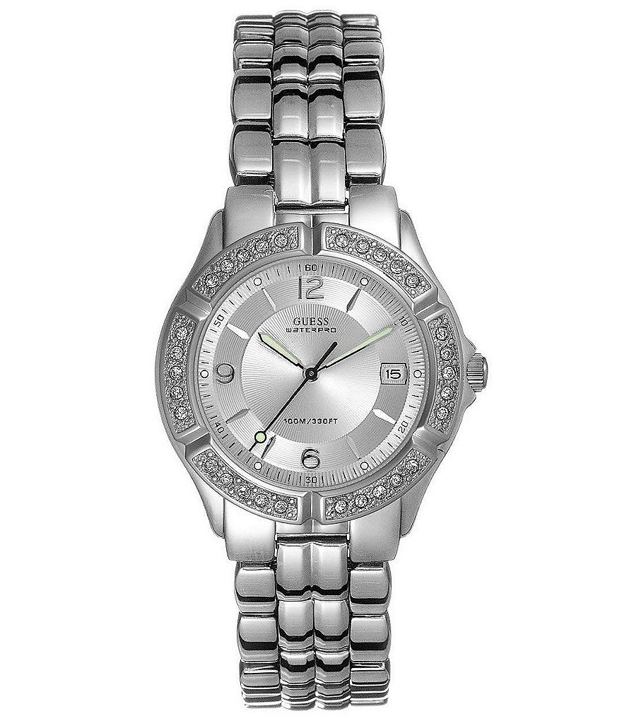 Guess Waterpro Crystal Accented Bracelet Watch
