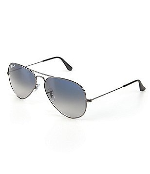 Ray-Ban Polarized Metal UV Protection Aviator Sunglasses