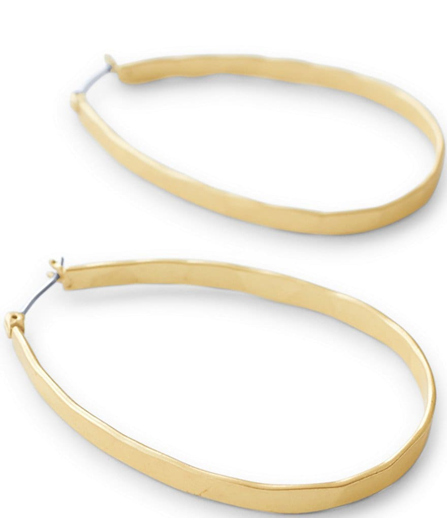 Lucky Brand Medium Oblong Hoop Earrings