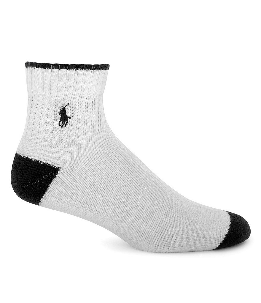 Polo Ralph Lauren Cushioned Quarter-Top Socks 3-Pack