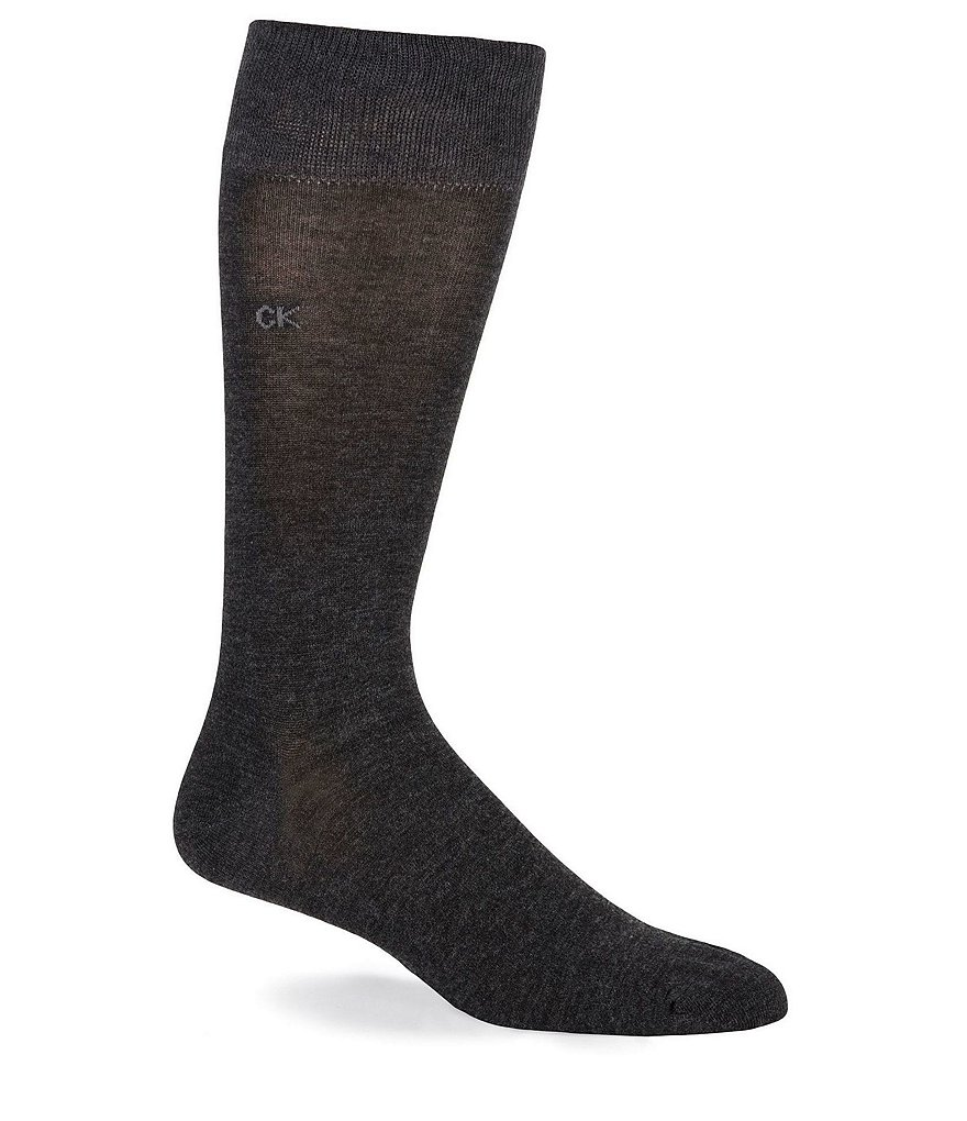Calvin Klein Flat-Knit Crew Dress Sock