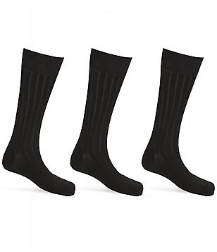 Calvin Klein Ribbed Crew Dress Socks 3-Pack