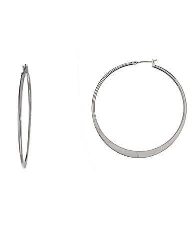Betsey Johnson Knife-Edge Hoop Earrings