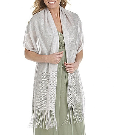 Cejon Metallic Crocheted Evening Wrap