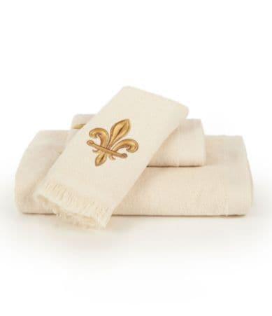 Avanti Linens Velvet Fleur-de-Lis Bath Towels | Dillards.