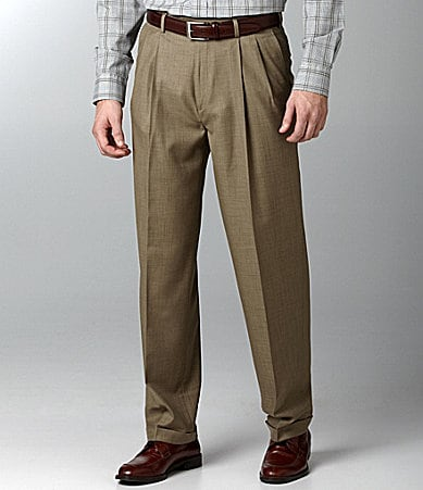 Roundtree & Yorke Expander Easy-Care Pleated Dress Pants