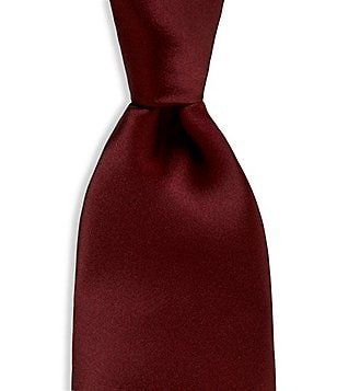 Murano Solid Narrow Silk Tie