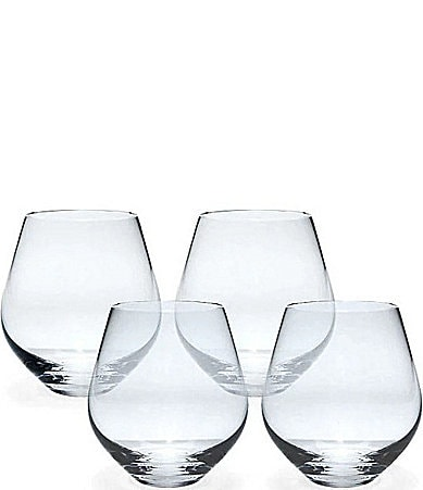 Lenox tuscany classics 4 piece stemless red wine glass set - Lenox stemless red wine glasses ...