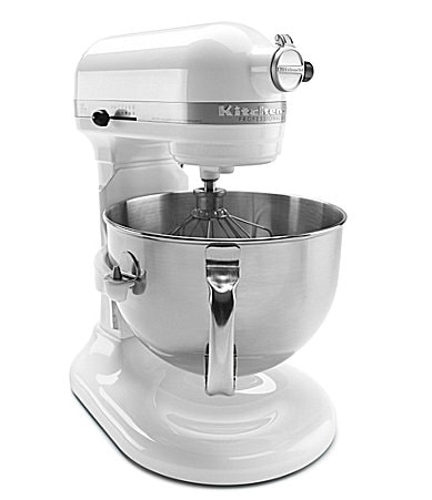 KitchenAid Professional 600 Series 6-Quart White Bowl-Lift Stand Mixer