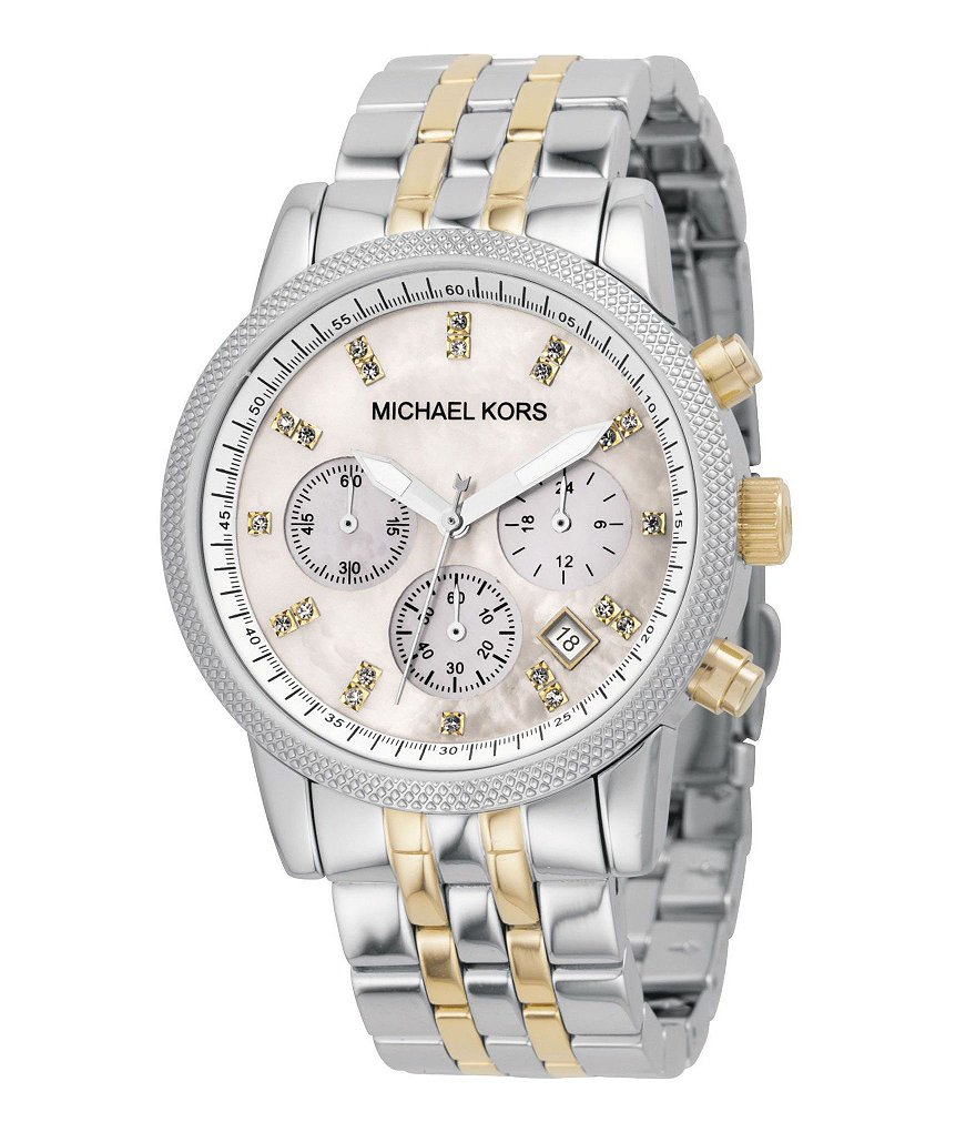 Michael Kors Ritz Mother-of-Pearl-Dial Chronograph Watch