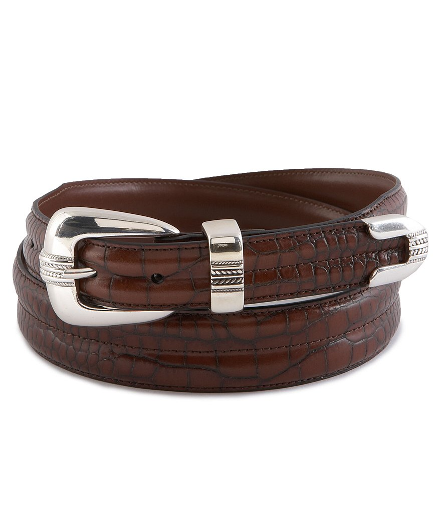 Daniel Cremieux Signature Collection Crocodile-Pattern Belt