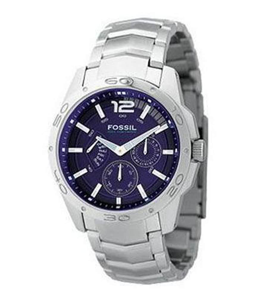 Fossil Blue-Dial Multifunction Watch