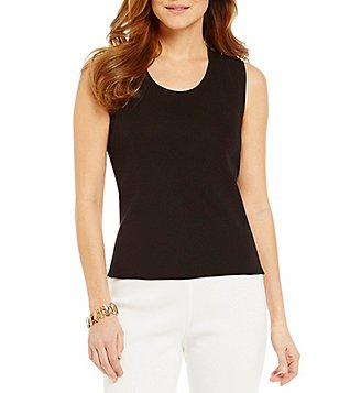 Ming Wang Scoopneck Sleeveless Tank