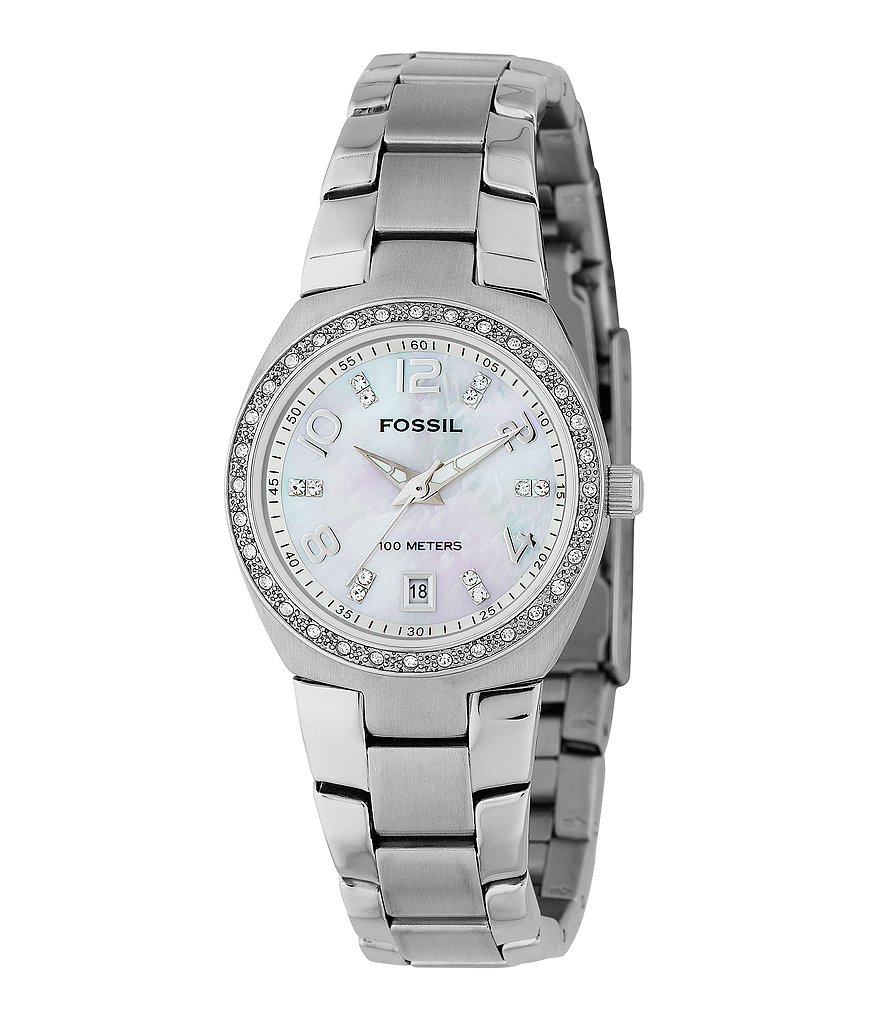Fossil Mother-of-Pearl-Dial Watch