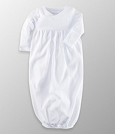 Ralph Lauren Childrenswear Newborn Solid Gown