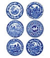 Set of 6 Traditional Scenes Plates