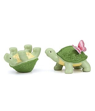 Lenox Butterfly Meadow Porcelain Turtle Salt & Pepper Shaker Set