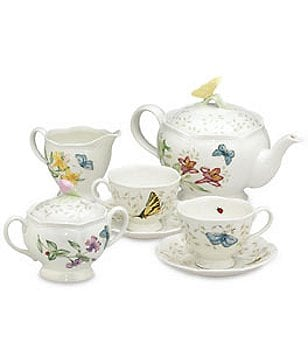 Lenox Butterfly Meadow 8-Piece Floral Porcelain Tea Set
