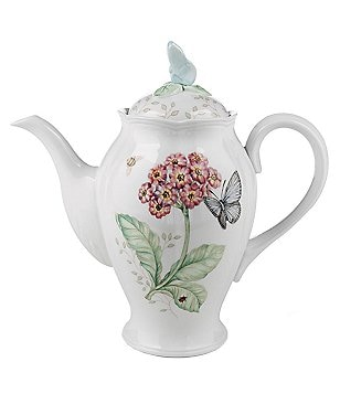 Lenox Butterfly Meadow Floral Porcelain Coffeepot