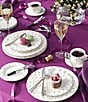 Color:Platinum - Image 2 - kate spade new york Larabee Road Dotted Platinum Bone China 5-Piece Place Setting