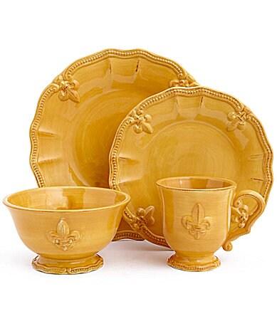 Sale alerts for  Artimino Fleur-de-Lis Yellow Dinnerware - Covvet