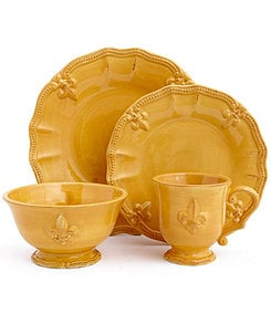 Artimino Fleur-de-Lis Yellow Dinnerware