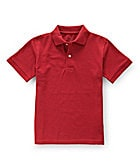 Class Club 8-20 Stain Resistant Solid Pique Polo Shirt