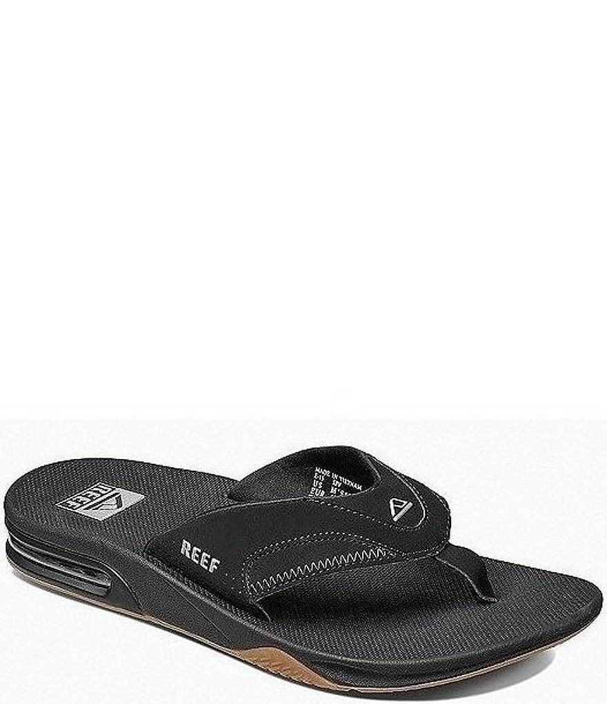 Black reef sandals - Reef Men S Fanning Thong Sandals