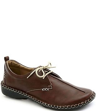 Josef Seibel Lindsay Leather Stitch Detail Lace Up Loafers