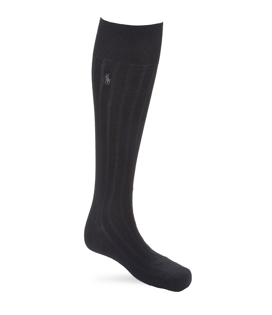 Polo Ralph Lauren Ribbed Over-the-Calf Socks 3-Pack