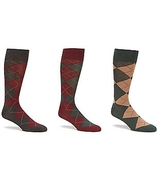 Polo Ralph Lauren Argyle Dress Socks 3-Pack