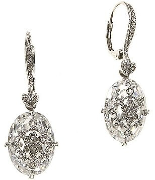 Nadri Crystal Filigree Drop Earrings
