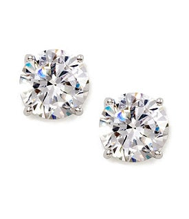 Nadri Large Cubic Zirconia Stud Earrings Image