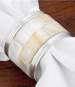 Kemp & Beatley Mother-of-Pearl Napkin Ring