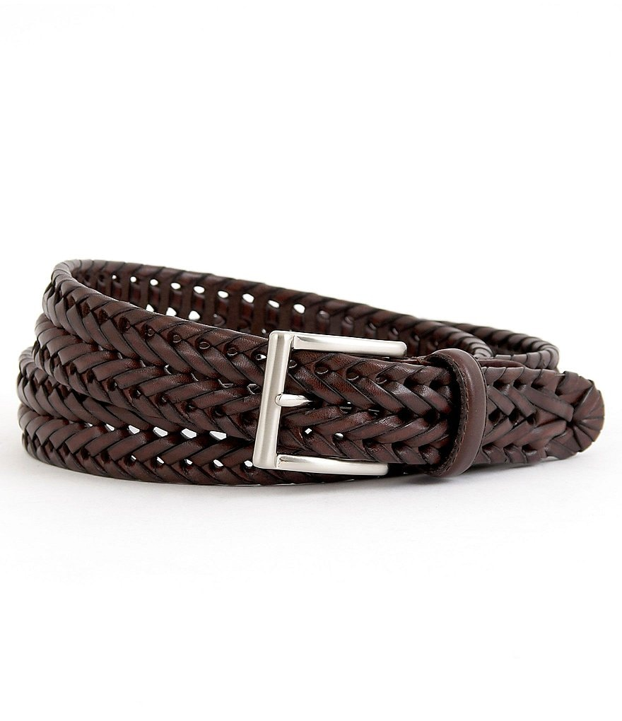 Roundtree & Yorke Leather Braided Belt