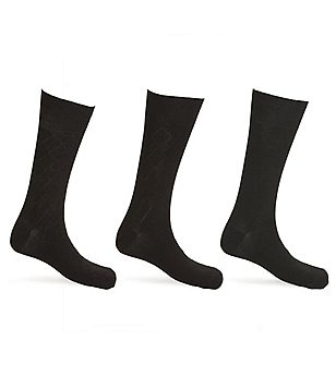Calvin Klein Textured Crew Dress Socks 3-Pack