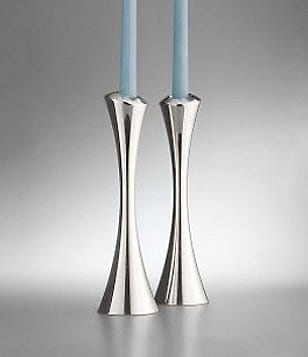 Nambe Aquila Candlestick Pair