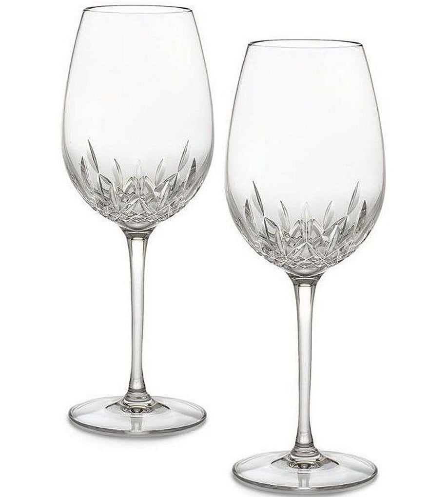 Waterford Crystal Lismore Essence Goblet Pair