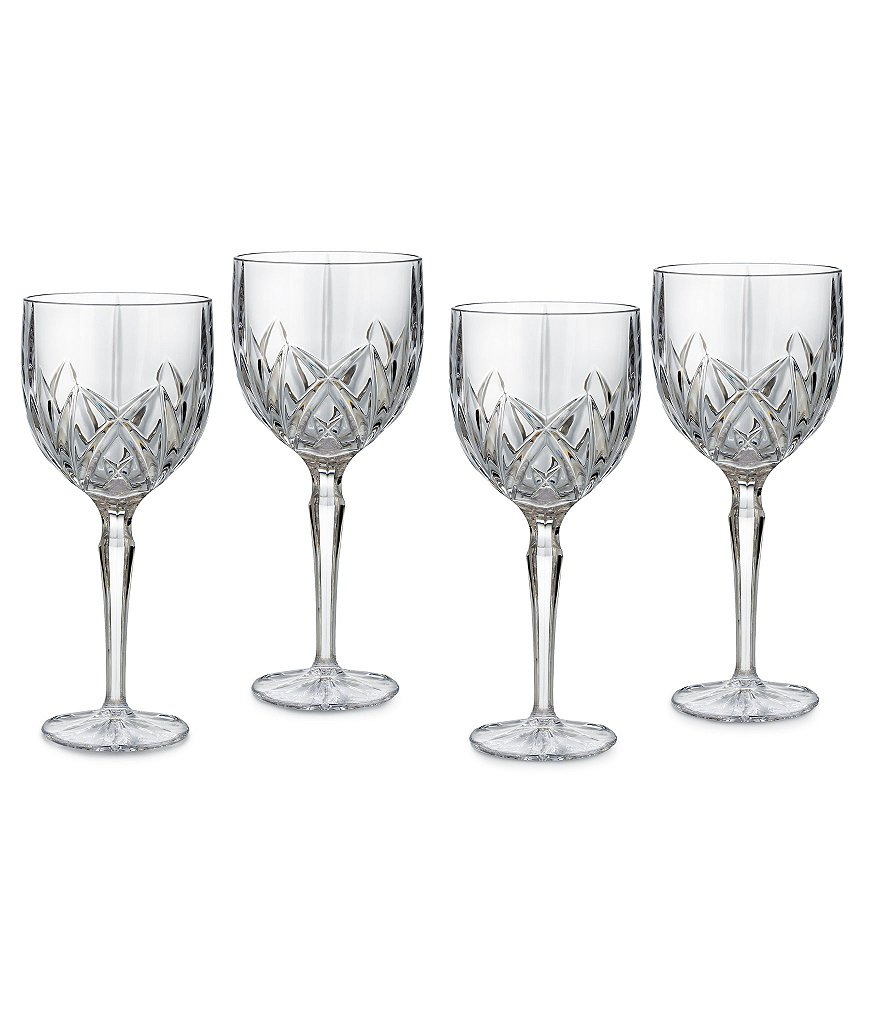 Marquis by Waterford Brookside Crystal Wine Goblets, Set of 4