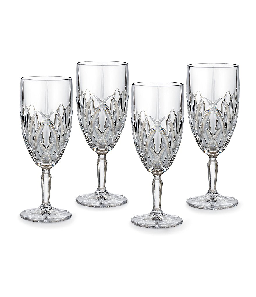 Marquis by Waterford Brookside Crystalline Iced Beverage Glasses, Set of 4