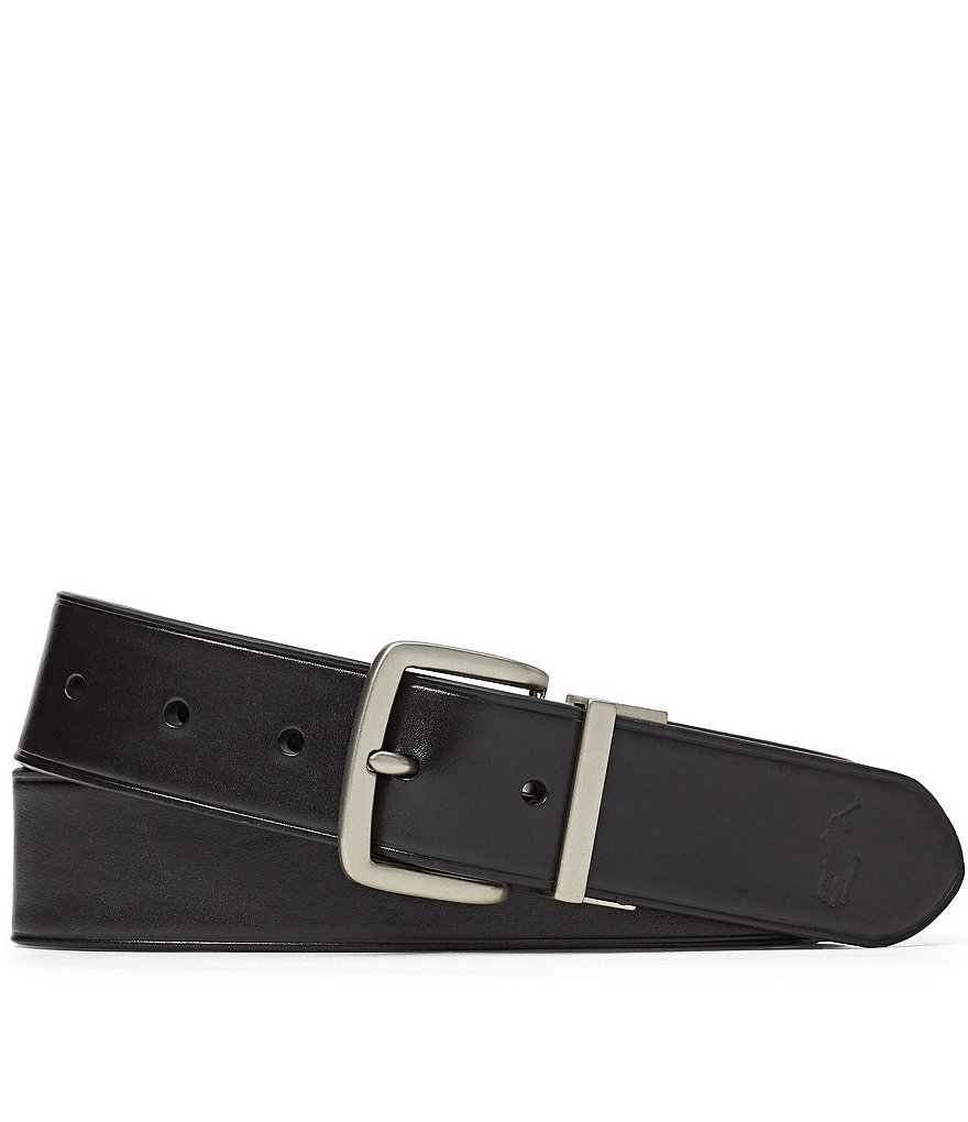 polo ralph black brown reversible belt dillards