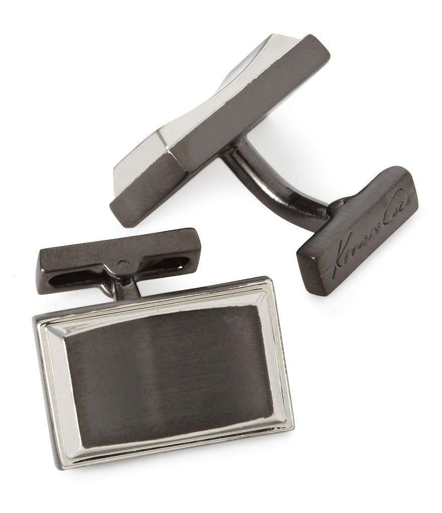 Kenneth Cole New York Rhodium & Hematite Cuff Links