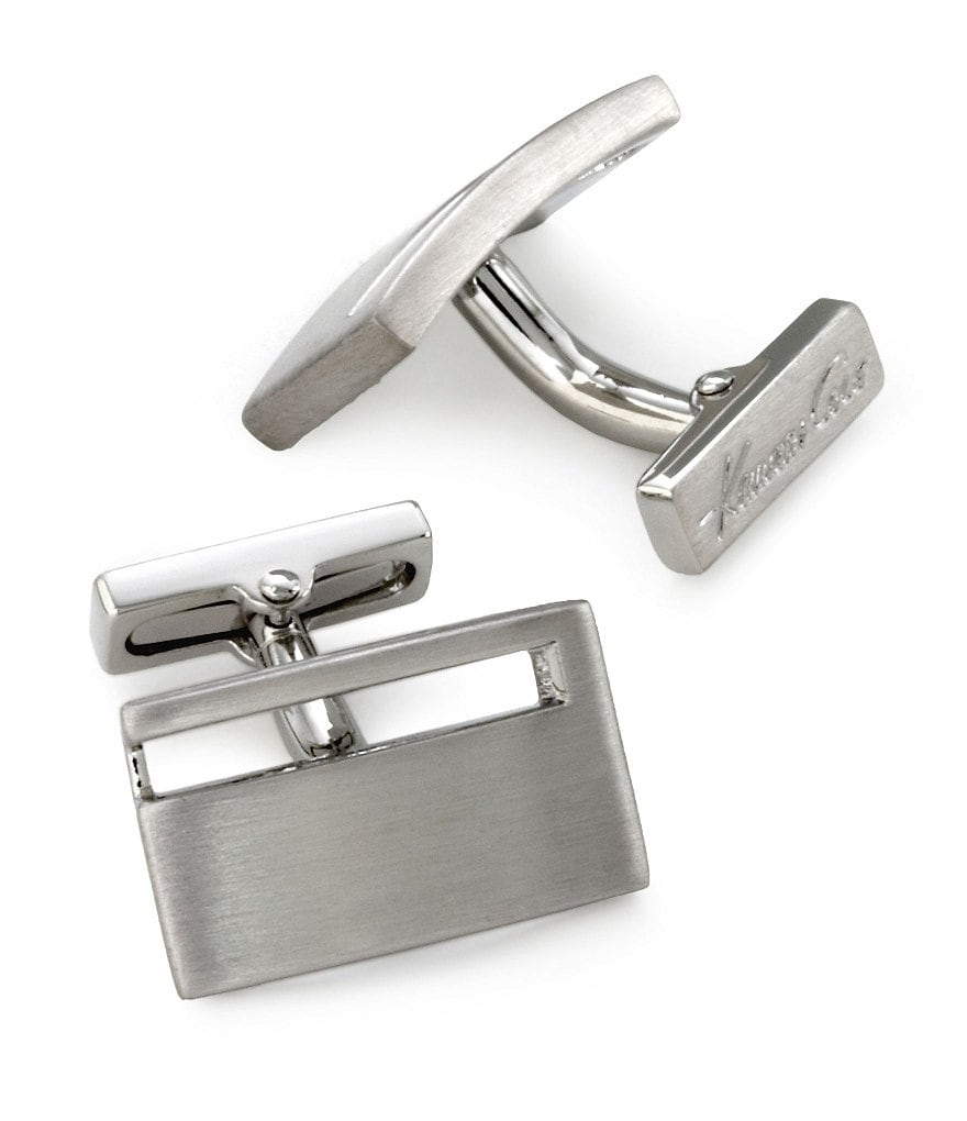 Kenneth Cole New York Cutout Rectangular Cuff Links