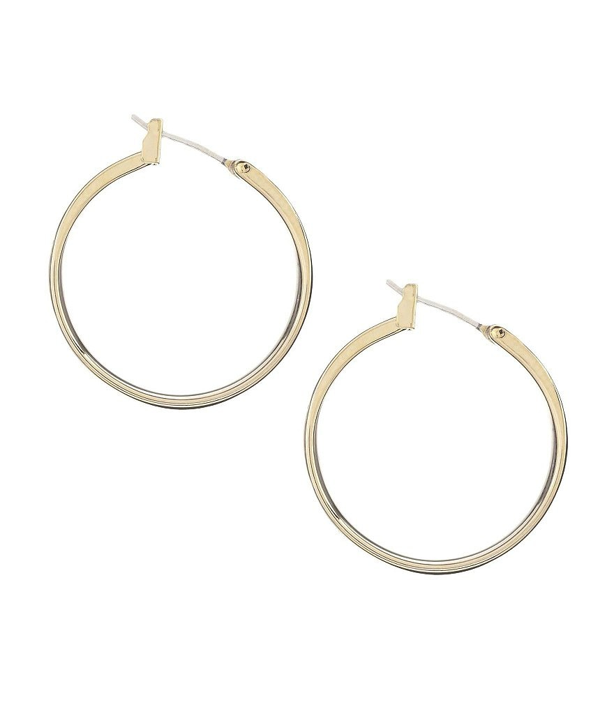 Dillard´s Tailored Polished Flat Hoop Earrings